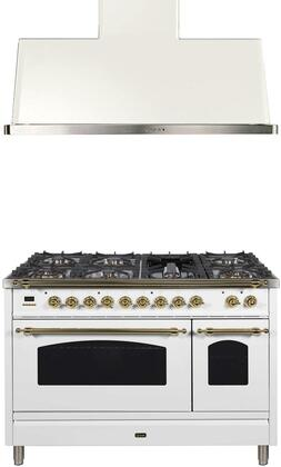 Ilve  1312608 Kitchen Appliance Package White, Main Image