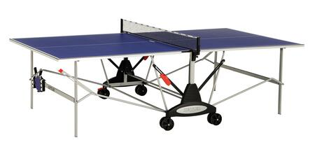 Stockholm GT 7122-890 108″ x 60″ Indoor Table Tennis Table with Patented Safety-Fold with Dual Lock  1.5″ Wide Oval Steel Legs and 5″ Dual Wheel