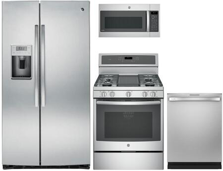 GE Profile 1052253 Kitchen Appliance Package & Bundle Stainless Steel, main image