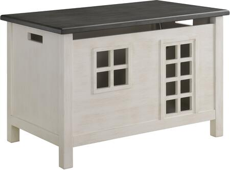 Acme Furniture Doll Cottage 97634 Trunk Gray, Youth Chest
