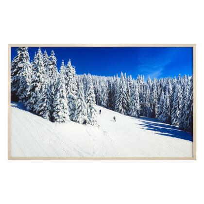 Landscapes Collection 3120057 Ski Slope 50.4″ x 30.3″ Tempered Glass Wall Art in Multi