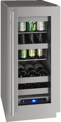 """UHBV515-SG01A 5 Class 15"""" Beverage Center with 2.9 cu. ft. Capacity Two Removable Full-Extension Wine Racks LED Lighting and Soft Close Door in"""