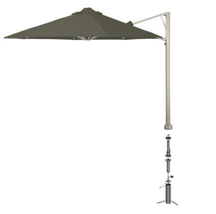 Shadowspec SU6 Series KITP6SQ25UNOGATPEA Outdoor Umbrella Gray, Taupe