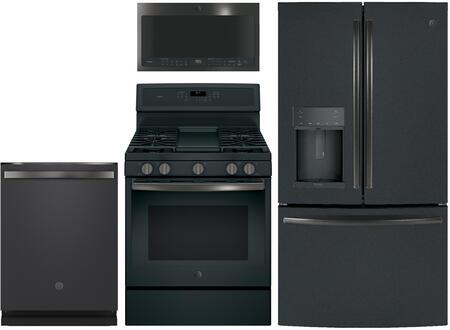 GE Profile  949159 Kitchen Appliance Package & Bundle Black Slate, Main image