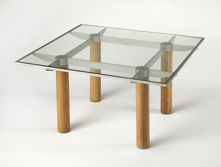 Cirrus Collection 3782140 Coffee Table with Modern Style  Square Shape and Solid Wood in Butler Loft