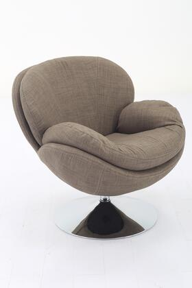 Strand Leisure Collection STRAND301070 Accent Chair with 360 Degree Swivel  Wing Arms  Padded Seat  All Steel Construction and Quality Fabric Cover
