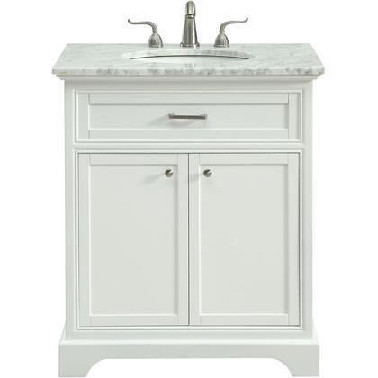 Elegant Decor Americana VF15030WH Sink Vanity White, VF15030WH