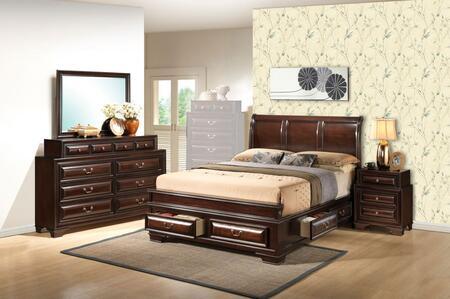Glory Furniture LaVita 4 Piece Queen Size Bedroom Set