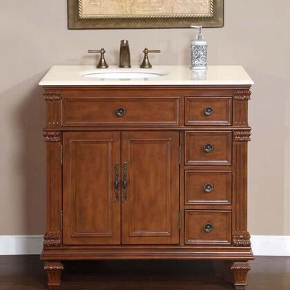 Silkroad Exclusive Esther HYP0210CMUWC36 Sink Vanity Brown, 1