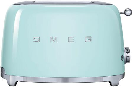 TSF01PGUS 50s Retro Style 2 Slice Toaster with 6 Browning Levels Stainless Steel Ball Lever Knob Backlit Chrome Knob Self-Centering Racks and