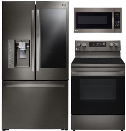 LG  841681 Kitchen Appliance Package Black Stainless Steel, Main image
