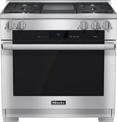 Miele M Touch HR19362DFGDLP Freestanding Dual Fuel Range Stainless Steel, 1