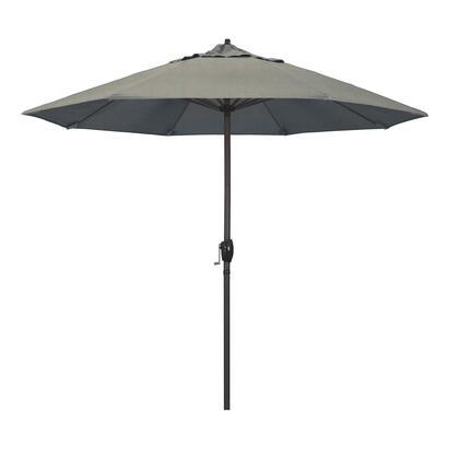 Casa Collection ATA908117-48032 9′ Patio Umbrella With Bronze Aluminum Pole Aluminum Ribs Auto Tilt Crank Lift With Sunbrella 1A Spectrum Dove