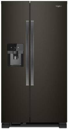 Whirlpool WRS325SDHV 25 Cu. Ft. Black Stainless Side-by-Side Refrigerator