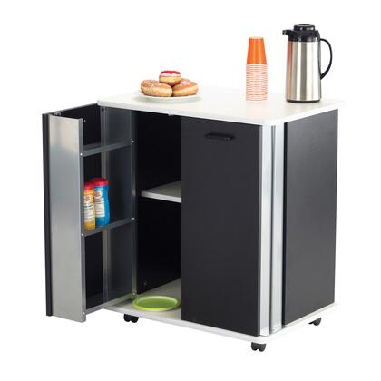 Safco 8963BL Commercial Food and Beverage Service Carts Black, 8963BL FrontAngle 29250