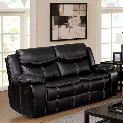 Furniture of America Gatria CM6981LV Loveseat Black, Main Image