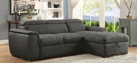 Furniture of America Patty CM6514BKSECT Sofa Bed Black, Main Image