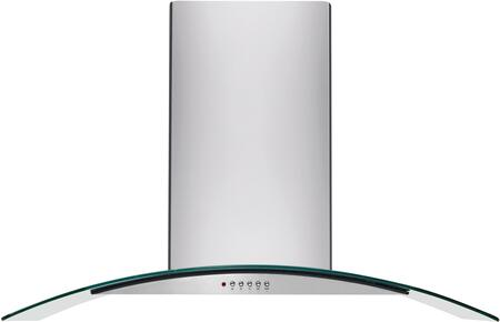 """FHPC4260LS 42"""" Island Mount Chimney Range Hood with 400 CFM Internal Blower Halogen Lighting 3-Speed Centrifugal Fan and Convertible to"""