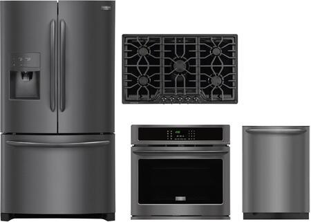 Frigidaire 988157 Kitchen Appliance Package & Bundle Black Stainless Steel, 1