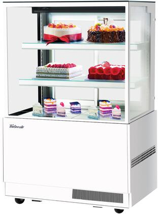 Turbo Air TBP4854NNW Display and Merchandising Refrigerator White, TBP4854NNW Angled View