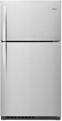 "WRT541SZDZ 33"" Top-Freezer Refrigerator with 21.3 Cu. Ft. Capacity EZ Connect Icemaker Kit Flexi-Slide Bin Additional Door Bin Glass Shelves and"