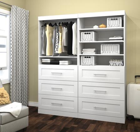 Bestar Furniture Pur Series 2685617 Wardrobe White, Image 1