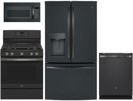 GE  1168860 Kitchen Appliance Package & Bundle Black Slate, Main image