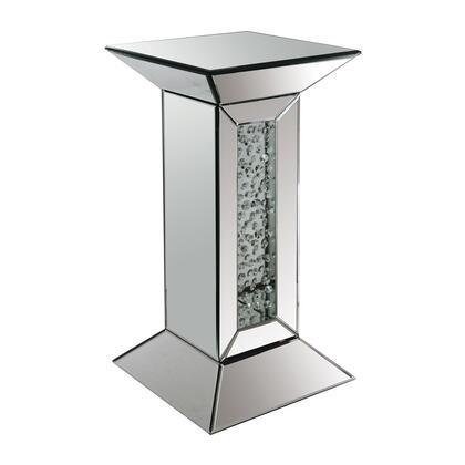 Acme Furniture Nysa 97306 Decorative Pedestals Silver, Pedestal Stand