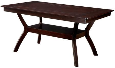 Furniture of America Brent CM3984WT Dining Room Table Brown, 1