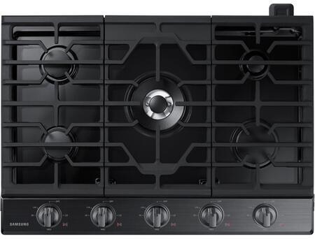 """Samsung NA30N6555TG 30"""" Fingerprint Resistant Black Stainless Steel Gas Cooktop"""