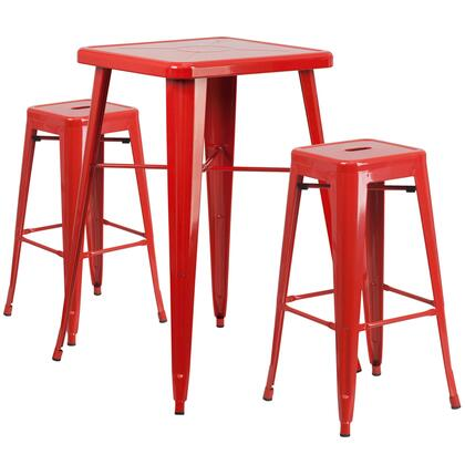 Flash Furniture CH31330B CH31330B230SQREDGG Outdoor Patio Set Red, CH31330B230SQREDGG set