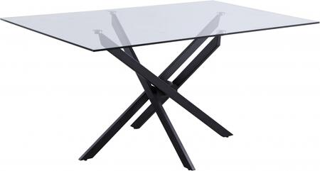 Meridian Xander 903T Dining Room Table Black, 903T Main Image
