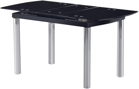 Global Furniture USA D30 Series D30DT Dining Room Table Black, Main Image