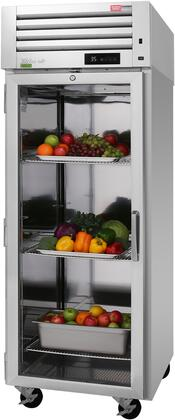 PRO-26R-G-N-L 29″ Pro Series Left Hinged Glass Door Reach-In Refrigerator with 24.8 cu. ft. Capacity  Self-Cleaning Condenser  Digital Temperature