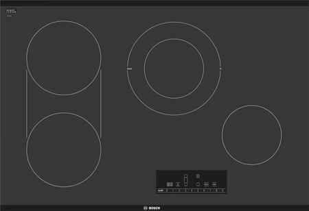 Bosch 800 Series NET8068UC Electric Cooktop Black, Main Image