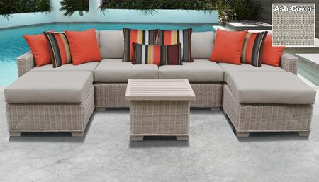 TK Classics COAST07AASH Outdoor Patio Set, COAST 07a ASH
