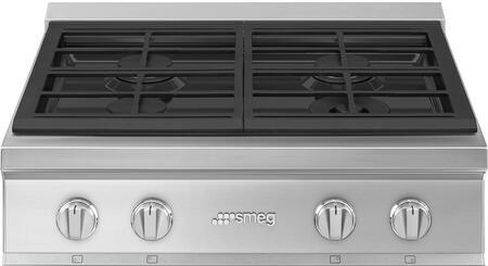 Smeg Portofino RTU304GX Gas Cooktop Stainless Steel, RTU304GX Rangetop