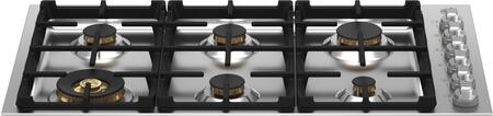 Bertazzoni Master MAST366QBXTLP Gas Cooktop Stainless Steel, MAST366QBXT Gas Cooktop