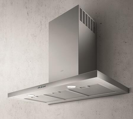 ETB424SS 24″ Comfort Series Toblino Wall Mount Chimney Style Hood with 400 CFM Blower  2 LED Lights  and Aluminum Mesh Filters  in Stainless