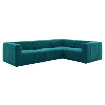 Modway Bartlett EEI4518TEA Sectional Sofa Blue, EEI 4518 TEA 1