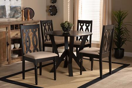 Wholesale Interiors Anise ANISESANDDARKBROWN5PCDININGSET Dining Room Set , 9733 10900 7