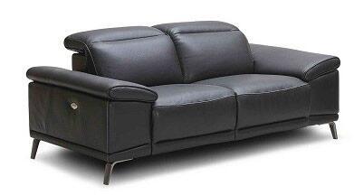 J and M Furniture Giovani 18220L Loveseat Black, Main Image