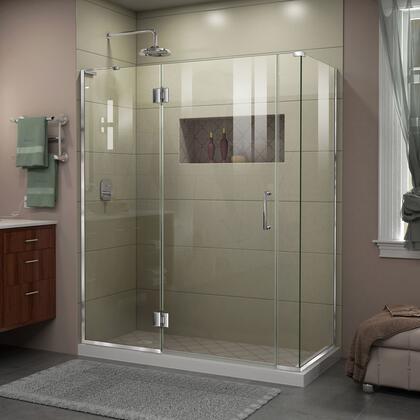 DreamLine  E3300634L01 Shower Enclosure , Unidoor X Shower Enclosure 24HP 30D 6IP 30RP 01