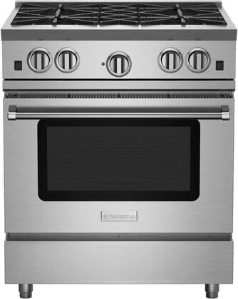 BlueStar RNB Series RNB304BV2 Freestanding Gas Range Stainless Steel, RNB304BV2 RNB Series Range