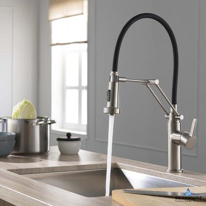 F01 208 02 Single Handle Pull Down Kitchen Faucet – Brush