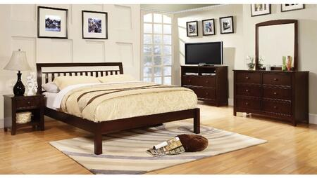 Furniture of America Corry CM7923EXCKBDMMCN Bedroom Set Brown, Main Image
