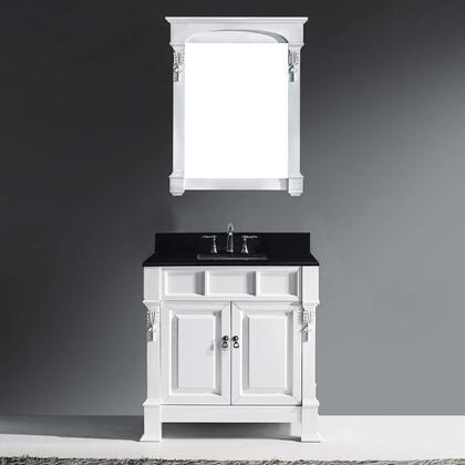 Avant Styles Huntshire GS4036BGSQWH001NM Sink Vanity White, GS 4036 BGSQ WH 1 SQ