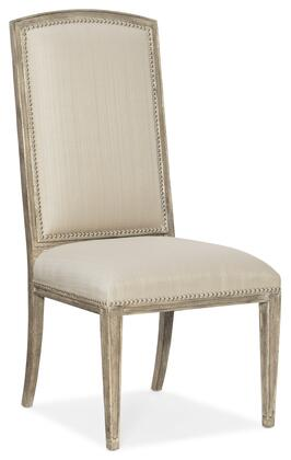 Hooker Furniture Sanctuary 2 58657571080 Dining Room Chair Beige, Silo Image