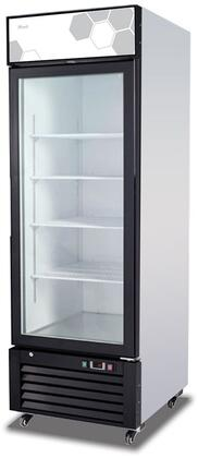 Migali Competitor C23FMHC Commercial Glass Door Freezer Black, Main Image