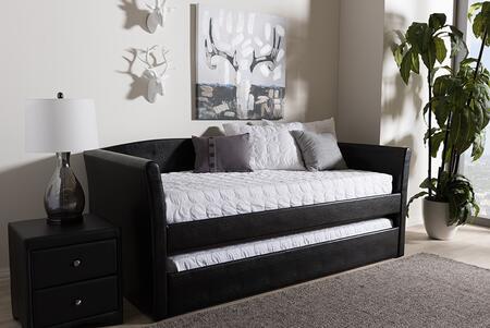 Baxton Studio 136.69 lbs. CF8756BLACKDAYBED Bed Black, CF8756 Black Daybed 6